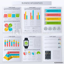 Advertising Charts And Graphs Modern Infographic Vector Elements For Business Template
