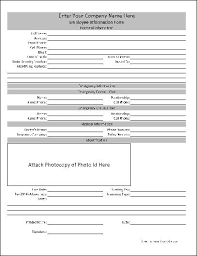 Form For Employee Free Personalized Employee Information Form From Formville