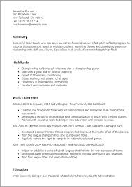 Assistant Coach Resume Samples Fair Assistant Coach Sample Resume With Additional Coaching Resume