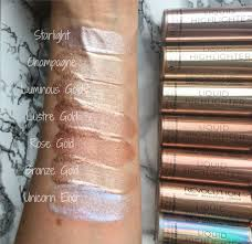 swatches on lighter skin tone