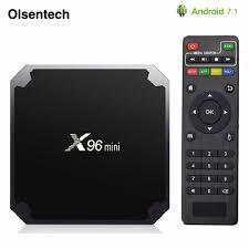 Android 7.1 Smart TV BOX X96 mini 2GB/16GB TVBOX X 96 mini Amlogic S905W  H.265 4K 2.4GHz WiFi Media Player X96mini Android Box Set-top Boxes