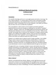 Childhood Essays 001 Research Paper Obesity Introduction Essays Conclusion