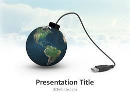 Powerpoint World Usb World Powerpoint Template