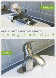 inexpensive bathroom faucets. our budget bathroom update: shedding a teardrop faucet inexpensive faucets e