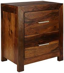 Evok Osage <b>Solidwood Night Stand</b> in <b>Brown</b> Colour: Amazon.in ...