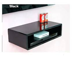 cool cd racks cool racks floating shelves for player and glossy black finished on the wall