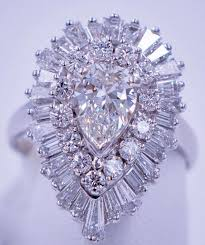 3 4 carat diamond ballerina ring pendant