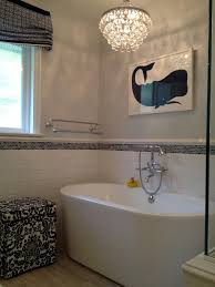 modern shower tile design ideas bathroom transitional with freestanding bathtub pendant chandelier freestanding bathtub