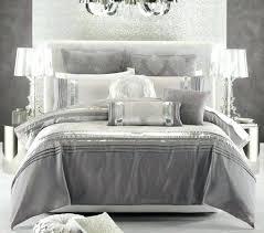 image of metallic silver comforter set