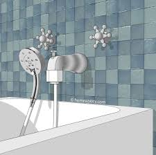option 6 handheld showerhead bathtub homeability