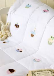 Cupcake Hand Embroidered Cot Bed Baby Quilt & ... Cupcake Hand Embroidered Quilt ... Adamdwight.com
