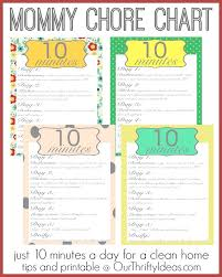 Household Cleaning Chore Chart Moms Chore Chart A Clean Home In Just 10 Minutes A Day