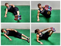 Resisted Sprints And Core Workout  Redefining StrengthBench Ab V Ups