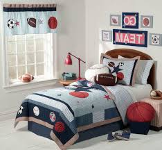cool boys sports bedroom decor ideas with blue