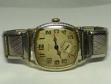 elgin men s wristwatches vintage 14k white gold filled art deco elgin mens wrist watch