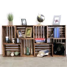 wooden crate wall shelves wooden crate bookshelf wood crate shelves diy