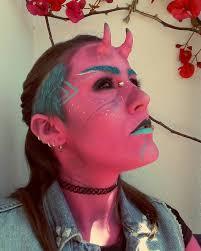 insidious red demon makeup