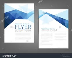 simple backgrounds for flyers stock vector blue polygonal line brochure template flyer background