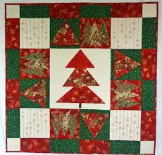122 best Red and green Christmas quilts images on Pinterest ... & Handmade Quilted Folk Art Christmas Tree Wall Hanging Red, White and Green Adamdwight.com