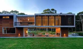 Bates Masi, an architect in New York has created a modern house with 3200  sq.ft area Montauk, NY called Pryor Residence. This guesthouse has a great  number ...
