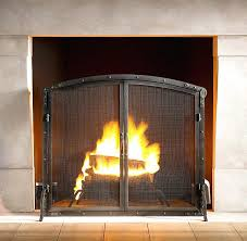 fireplace screen flat rivet hearth arched screen with doors and tools gas fireplace flat screen tv