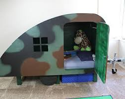 Furniture Green Football Theme Bunk Bed With GoalPost Underneath Boys Bed