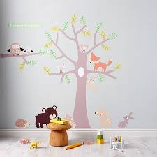 pastel forest friends wall stickers wall stickers