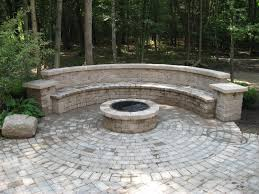 Seating Wall Blocks Brick Patio Designs With Fire Pit Patio Ideas And Patio Design