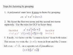 Factoring Polynomials Worksheet Elegant 6 6 Factoring by Grouping ...