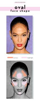 how to contour an oval face shape