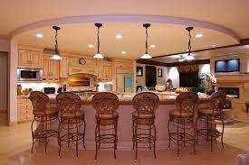 Kitchen And Living Room Designs Kitchen Brown Kitchen Cabinets White Refrigerator Dark