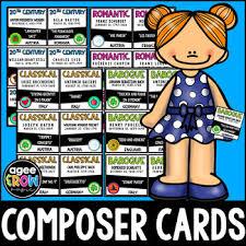 96 Flashcards Pocket Chart Birthday Display Classical Music