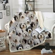 Old English Sheepdog Blanket V2 ...