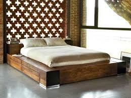 wood plank bed frame large size of bedroom cool wooden bed frames oak platform bed with
