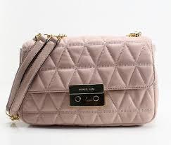michael kors michael kors women s sloan large quilted leather shoulder bag soft pink os com