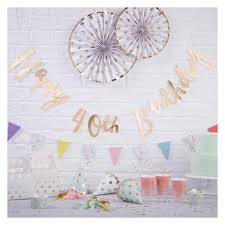 """""""<b>Happy 40th Birthday</b>"""" Bunting Tag Gold : Target"""