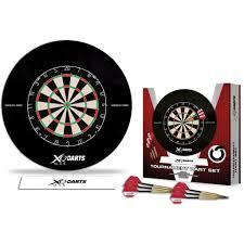 Image result for XQMax EVA Surround & Tournament Darts Set - includes Dartboard - 2 Sets Darts - Black