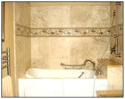 bathtub tile ideas pebble tiles decoratively accent