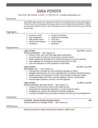 Sample Cover Letter For Paralegal Resume Objective For Paralegal Resume Templates Legal Secretary Examples 89