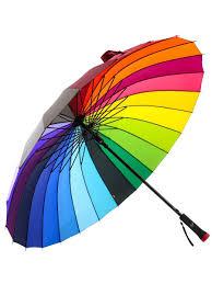 Зонт женский трость Радуга, семейный, 24 спицы, 115 см ...