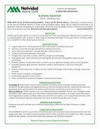 Medical Assistant Resume Template Fresh Cna Resume Templates Sample