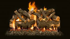 ventless gas logs. Ceramic Gas Logs Burning With Flames And Embers Ventless