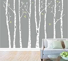 white tree vinyl wall art