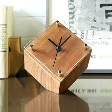 wooden desk clock handcrafted clocks