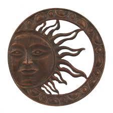 bronze sun wall art wall art