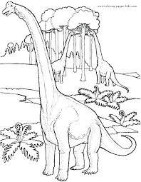 Realistic Dinosaur Coloring Pages Printable Dinosaurs Coloring Pages