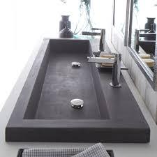 trough 4819 bathroom sink in slate nsl4819 s