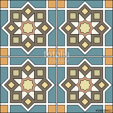 patchwork colourful moroccan tiles