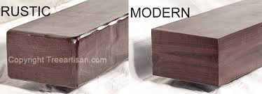 fireplace mantel floating shelf rustic or modern custom walnut beam