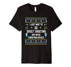 Amazon Com Funny Target Shooting Christmas T Shirt Xmas